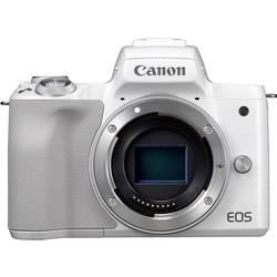 Systemkamera Canon EOS M50 Hus, inkl. Batteri 24.1 MPix Vit 4K-video, Bluetooth, Hopfällbar display, Touch-Screen, WiFi