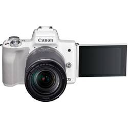 Systemkamera Canon EF-M 18-150 Kit inkl. EF-M 18-150 mm Hus, inkl. Batteri, Standard-Zoomobjektiv 24.1 MPix Vit 4K-video, Blueto