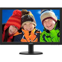LED-skærm Philips 243V5LHSB5 1920 x 1080 pix Full HD 1 ms HDMI™, VGA, DVI