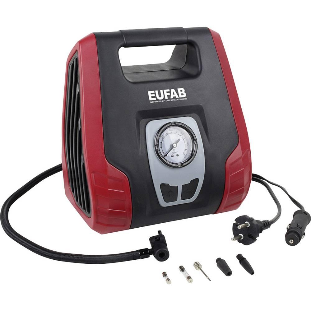 Kompresor 8.3 bar EAL 21076 12 V adapter za rad preko kabela, Analogni manometar