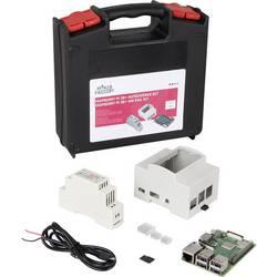 Raspberry Pi® 3 Model B+ MF-R3B+ Hutschienenset 1 GB Noobs inkl. hölje, inkl. nätaggregat