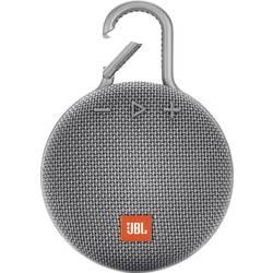 JBL Clip 3 Bluetooth® zvočnik Zunanji zvočnik, Uporaba na prostem, Zaščita pred pršečo vodo Siva