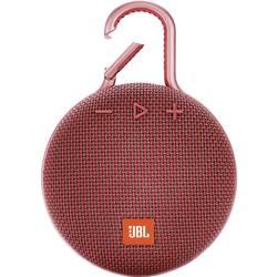 Bluetooth zvučnik JBL Clip 3 funkcija govora slobodnih ruku, vanjski, zaštićen protiv prskajuće vode crvena
