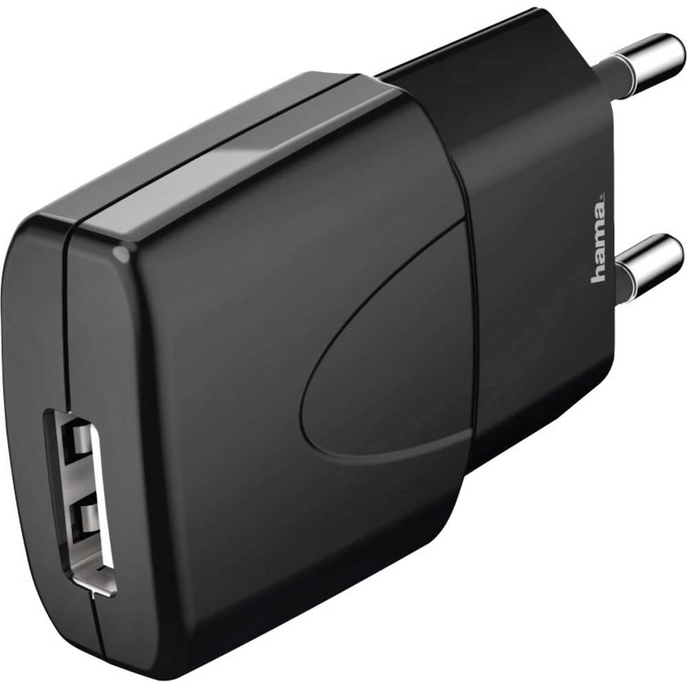 USB-oplader Hama Picco black 173631 Stikdåse Udgangsstrøm max. 1000 mA 1 x USB (value.1390762)