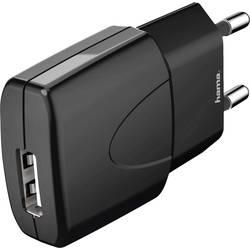 Vägguttag USB-laddare Hama Picco black 1 xUSB 1000 mA Svart