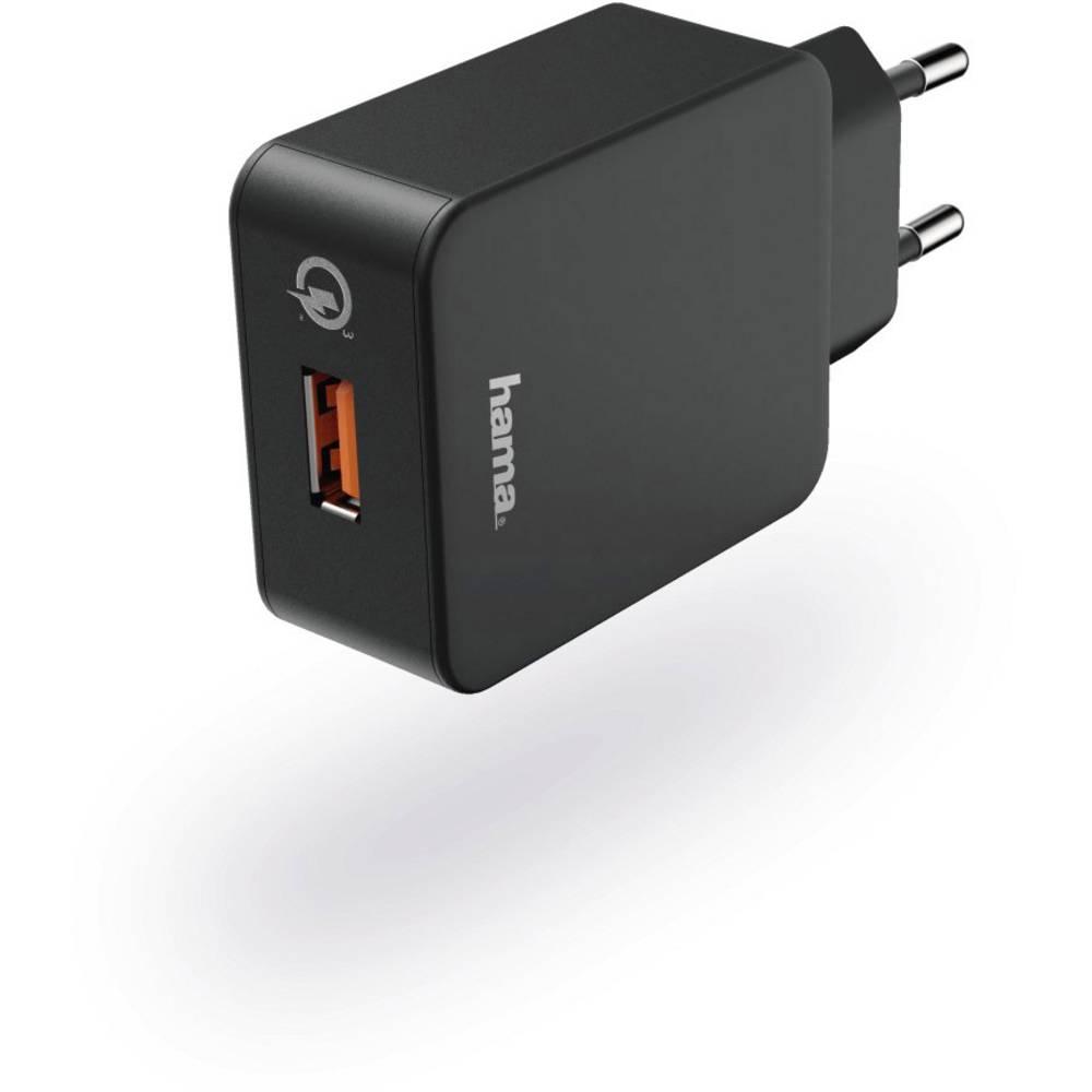 USB-oplader Hama QC 3.0 178238 Stikdåse Udgangsstrøm max. 3000 mA 1 x USB (value.1390762)