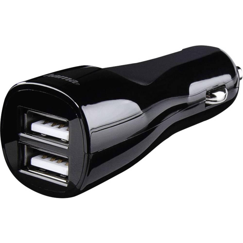Hama Duo 4.8 173609 USB napajalnik Osebno vozilo, Toprednjio vozilo Izhodni tok maks. 4800 mA 2 x USB