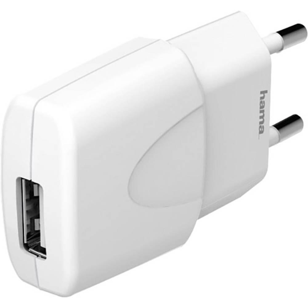 USB-oplader Hama Picco white 173653 Stikdåse Udgangsstrøm max. 1000 mA 1 x USB (value.1390762)