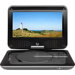 LCD-TV 23 cm 9  Dual Portable DVD-Player DVD-P 905 Batteridrift, inkl. DVB-T-antenn, med integrerad DVD-spelare Svart