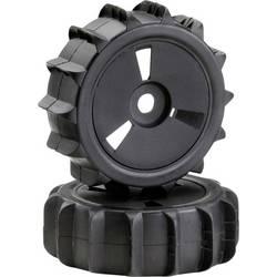 Absima 1:8 buggy kompletna kolesa sandpaddle rough disk črna 2 kos