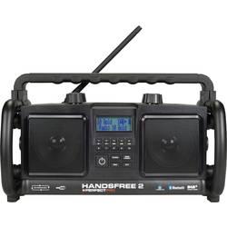 PerfectPro Handsfree 2 DAB+ Byggradio AUX, Bluetooth, FM, USB Batteri-laddningsfunktion, Högtalartelefon, Stänkvattenskyddad, Da