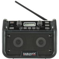 PerfectPro DAB+mate DAB+ Byggradio AUX, Bluetooth, FM Batteri-laddningsfunktion, Stänkvattenskyddad, Dammtät, Stötsäker, uppladd