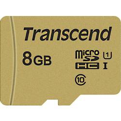 Transcend Premium 500S microsdhc kartica 8 GB Class 10, UHS-I, UHS-Class 1 uklj. sd-adapter