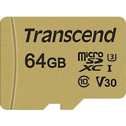 Transcend Premium 500S microsdxc-kartica 64 GB Class 10, UHS-I, UHS-Class 3, v30 Video Speed Class vključen sd-adapter