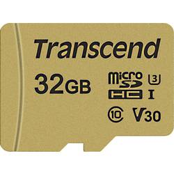 Transcend Premium 500S microsdhc kartica 32 GB Class 10, UHS-I, UHS-Class 3, v30 Video Speed Class uklj. sd-adapter