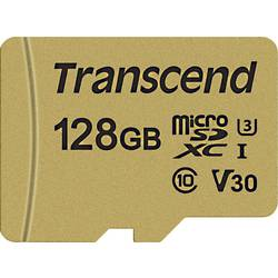 Transcend Premium 500S microsdxc kartica 128 GB Class 10, UHS-I, UHS-Class 3, v30 Video Speed Class uklj. sd-adapter