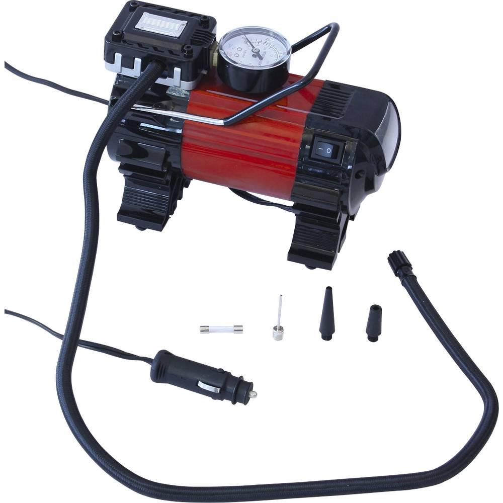 kompresor 6.9 bar Dino KRAFTPAKET 136309 12 v adapter za rad preko kabela, analogni manometar, s radnom svjetiljkom