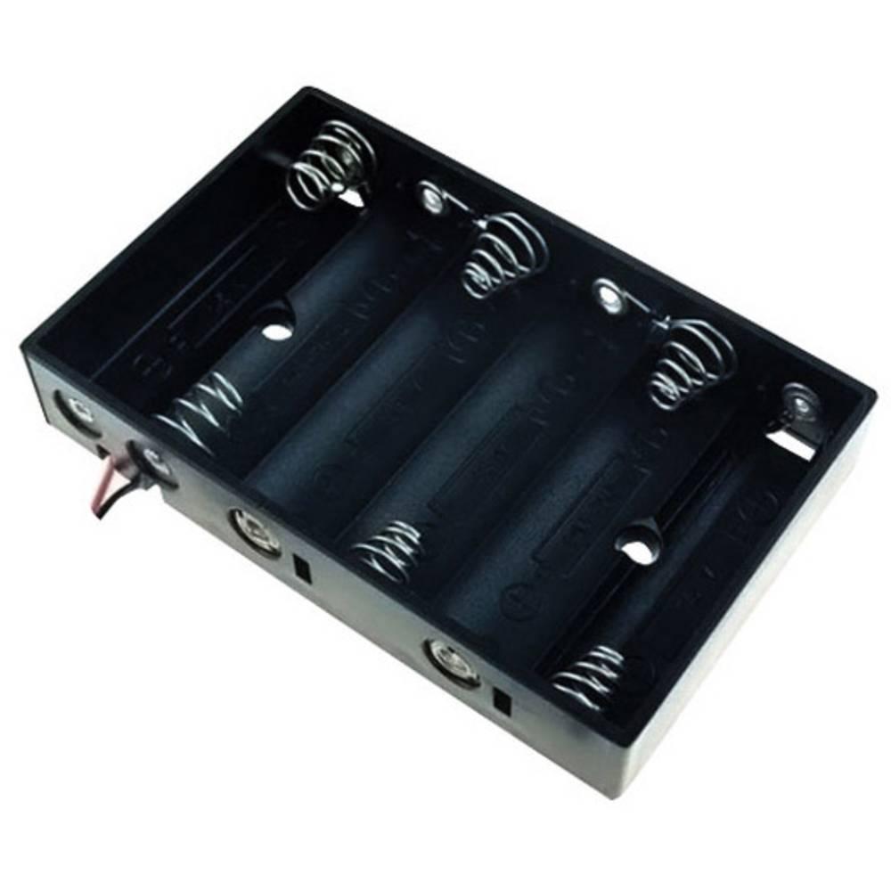 Držalo za baterije 6x Mignon (AA) kabel TRU COMPONENTS BH-364A