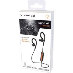 Vivanco SPORT AIR OUTDOOR bluetooth® in ear zaščita pred znojenjem, vodoodbojne, z bluetooth® bazno postajo črna/oranžna