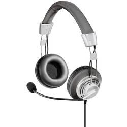 pc naglavne slušalice sa mikrofonom usb sa vrpcom Hama Style na ušima crna, srebrna