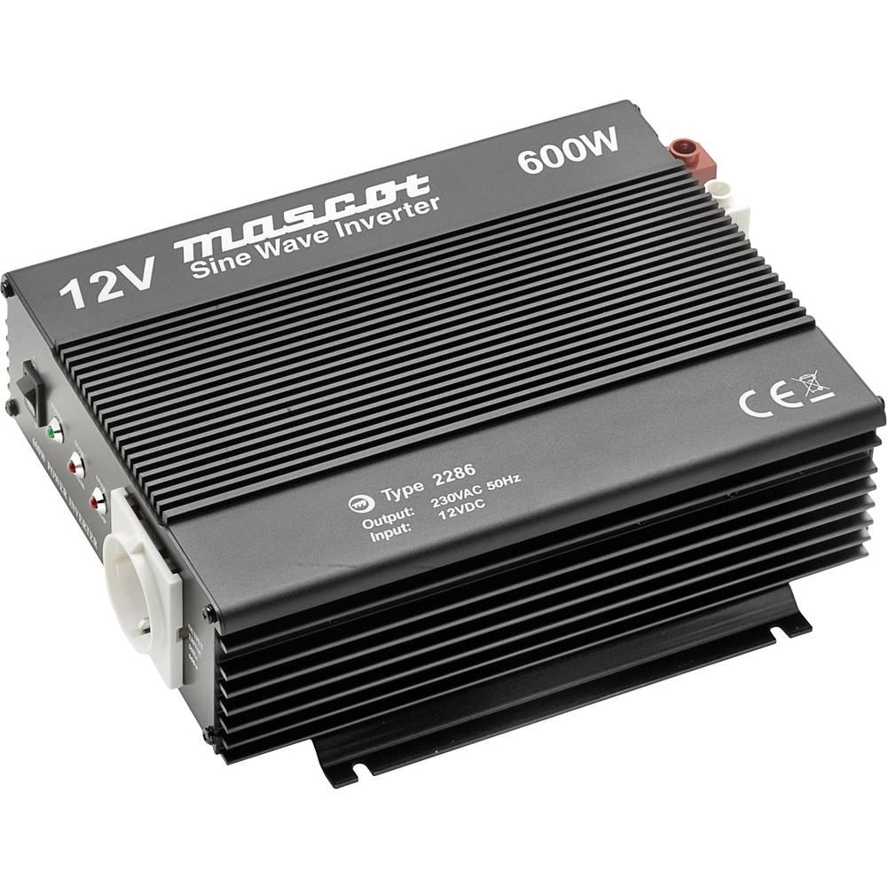 Inverter Mascot 2286 600 W 12 V/DC Skrueklemmer