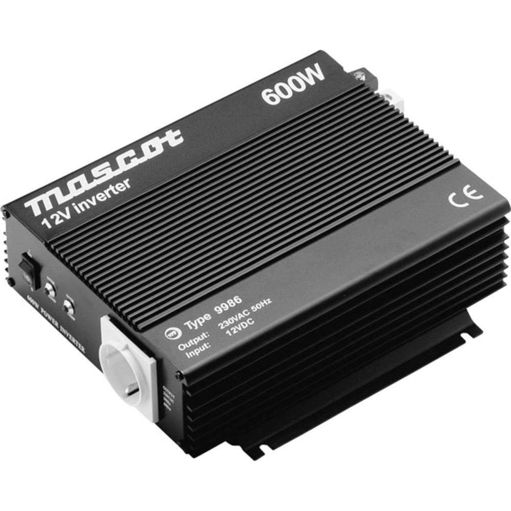 Inverter Mascot 9986 600 W 12 V/DC Skrueklemmer