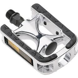 City-/Komfort-Pedale pedala za kolo srebrna, črna