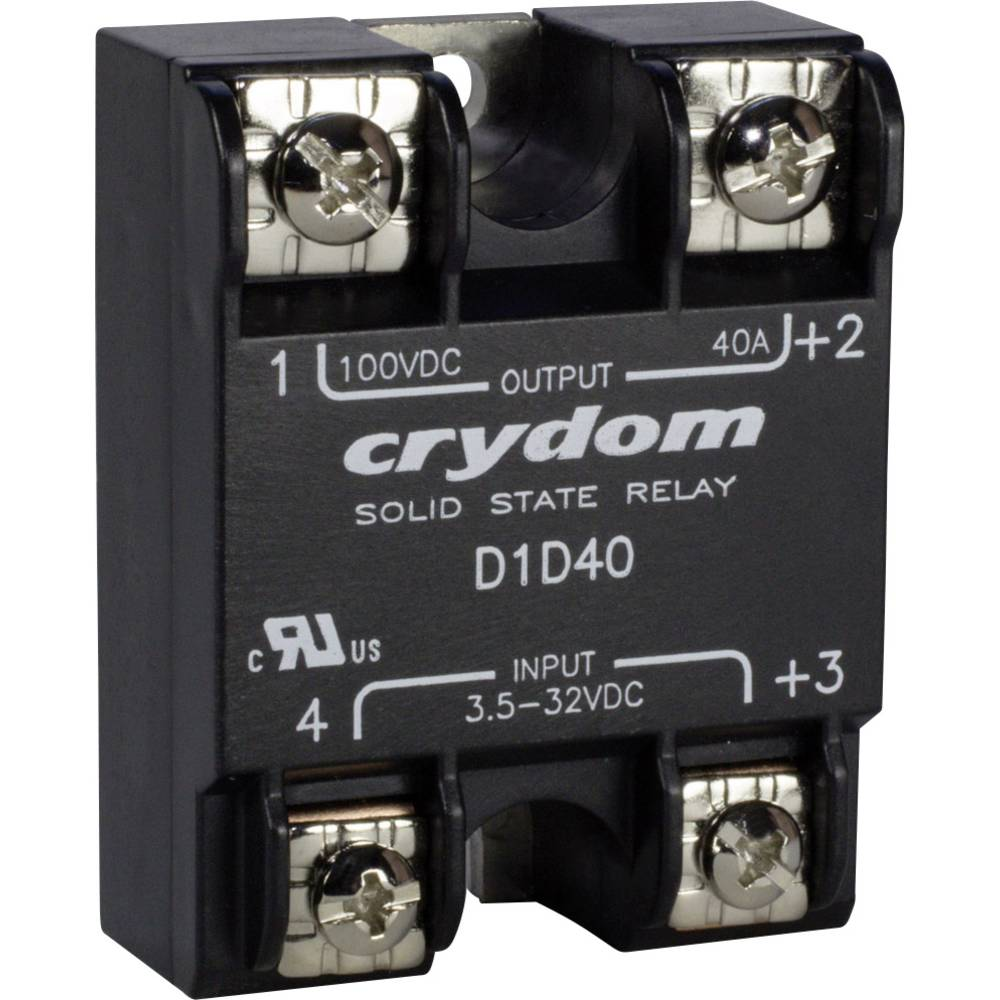 Crydom D06D100 Electronic Power Relay With DC Output, Series D06D