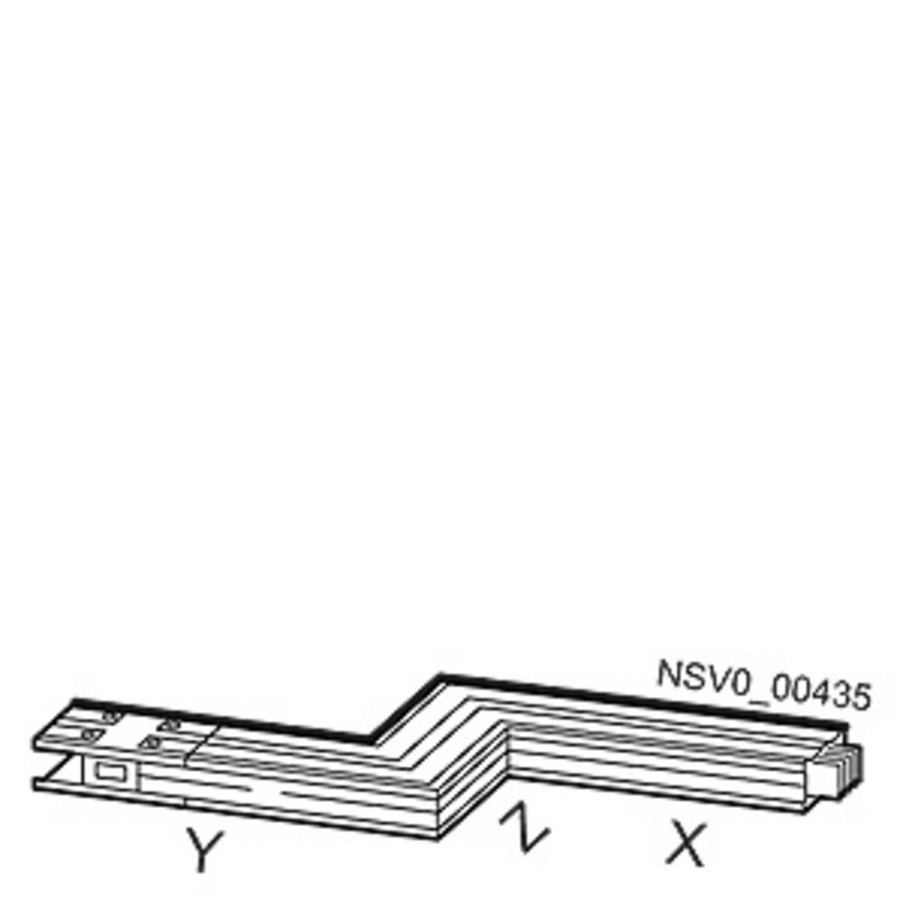 Tirni sistem-Z škatla levo Aluminij Svetlo siva 1000 A 690 V Siemens BVP:261816
