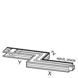 Tirni sistem-Z škatla desno Baker Svetlo siva 400 A 690 V Siemens BVP:261911