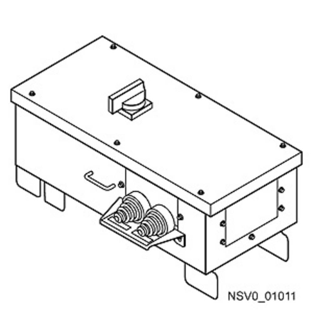 Tirni sistem-izhodna škatla Svetlo siva 400 A 400 V Siemens BVP:610442