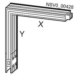 Tirni sistem-koleno zadaj Aluminij Svetlo siva 1000 A 690 V Siemens BVP:261875