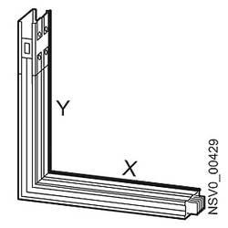 Tirni sistem-koleno spredaj Aluminij Svetlo siva 1000 A 690 V Siemens BVP:261879