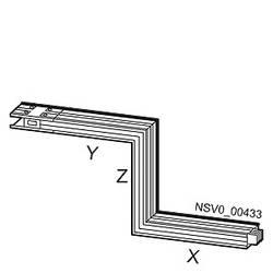 Tirni sistem-Z škatla spredaj Baker Svetlo siva 400 A 690 V Siemens BVP:261905