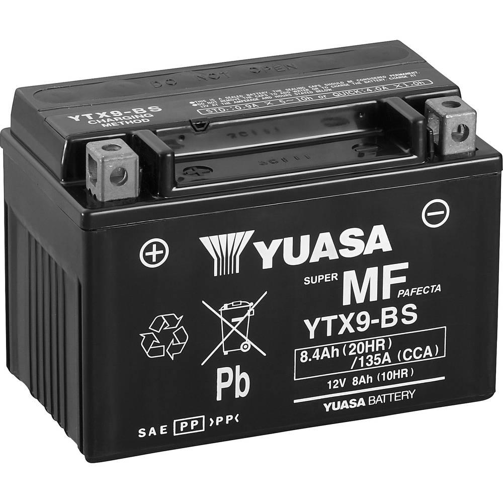 Motorcykelbatteri Yuasa YTX9-BS 12 V 8 Ah Motorräder, Quads, Jetski, Schneemobile