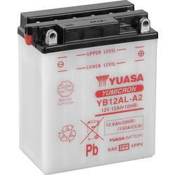 Motorcykelbatteri Yuasa YB12AL-A2 12 V 12 Ah Motorräder, Motorroller, Quads, Jetski, Schneemobile, Aufsitz-Rasenmäher