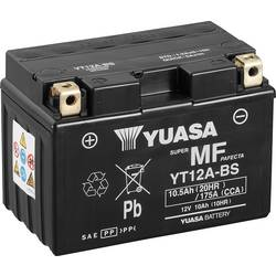 Motorcykelbatteri Yuasa YT12A-BS 12 V 10 Ah Motorräder, Quads, Jetski, Schneemobile
