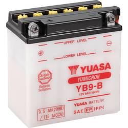 Motorcykelbatteri Yuasa YB9-B 12 V 9 Ah Motorräder, Motorroller, Quads, Jetski, Schneemobile, Aufsitz-Rasenmäher