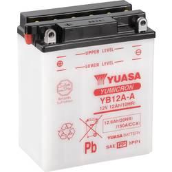 Motorcykelbatteri Yuasa YB12A-A 12 V 12 Ah Motorräder, Motorroller, Quads, Jetski, Schneemobile, Aufsitz-Rasenmäher