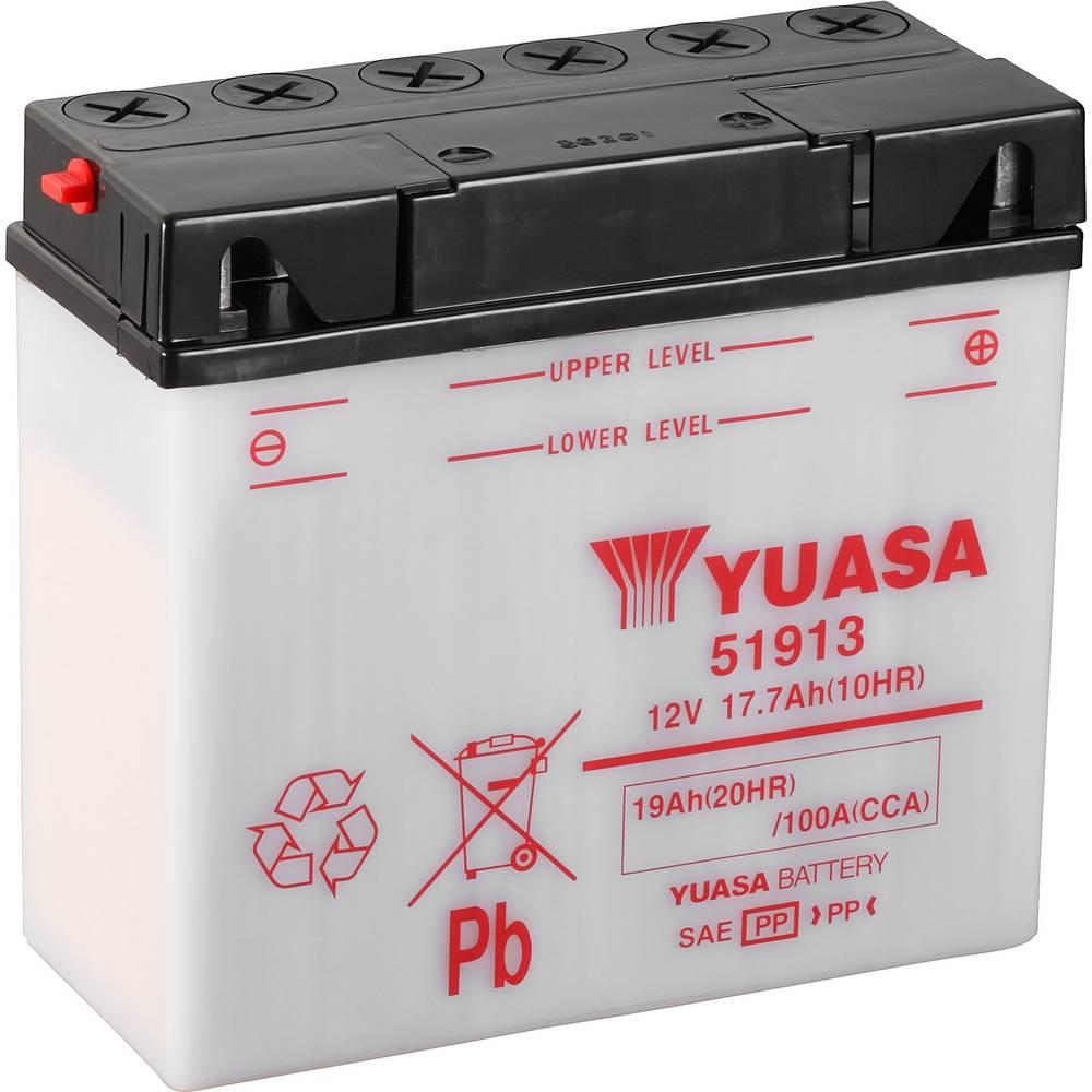 Motorcykelbatteri Yuasa 51913 12 V 19 Ah Motorräder, Motorroller, Quads, Jetski, Schneemobile, Aufsitz-Rasenmäher