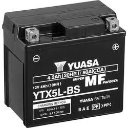 Motorcykelbatteri Yuasa YTX5L-BS 12 V 4 Ah Motorräder, Quads, Jetski, Schneemobile