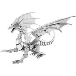 Komplet za sestavljanje iz kovine Metal Earth Iconx Silver Dragon