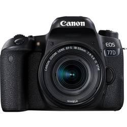 Systemkamera Digital Canon EOS 77D inkl. EF-S 18-55 mm IS STM 24.2 MPix Svart