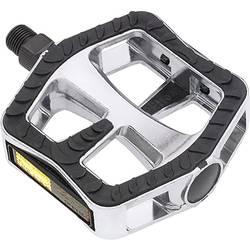 Wellgo Komfort-Pedale XL pedala za kolo srebrna, črna