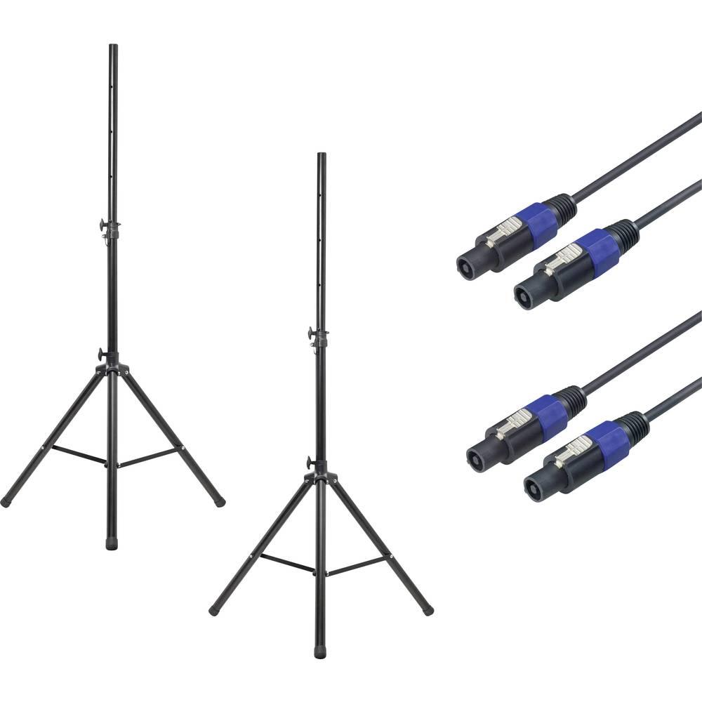 Stojalo za PA zvočnik - komplet, raztegljivo, nastavljivo po višini Renkforce 1 kos