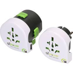 Q2 Power 2.100130 Potovalni adapter 2-delni komplet
