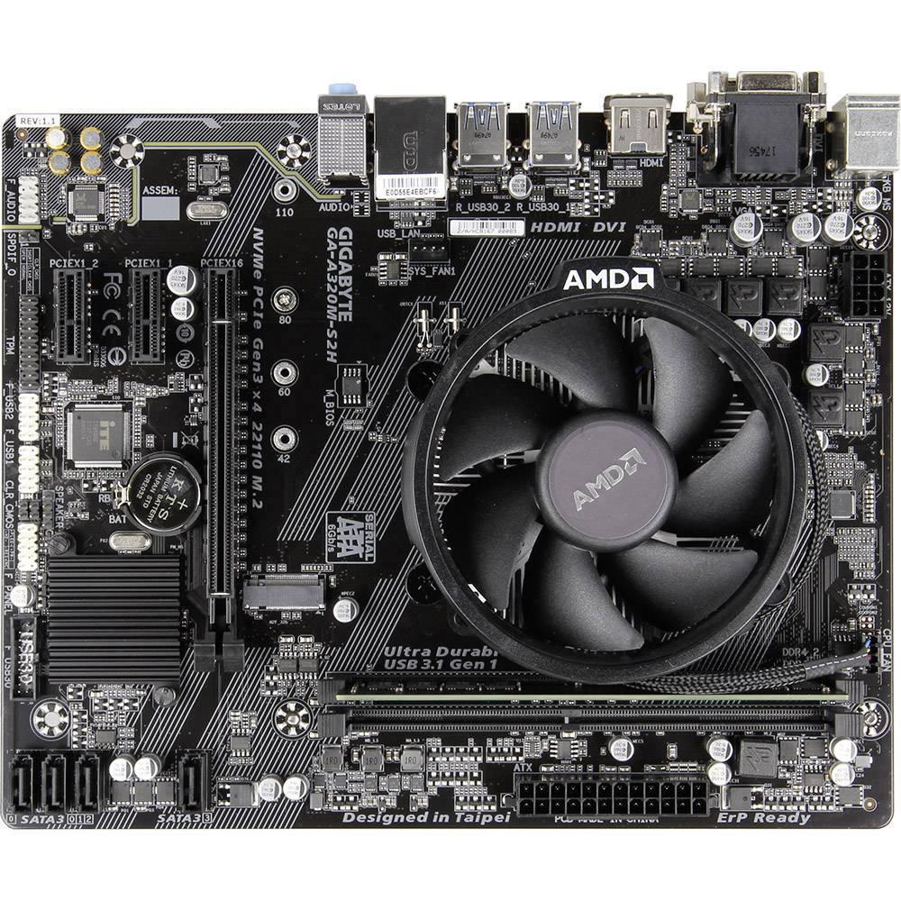 PC tuning komplet (pisarniški) AMD Ryzen 3 2200G (4 x 3.5 GHz) 8 GB Micro-ATX