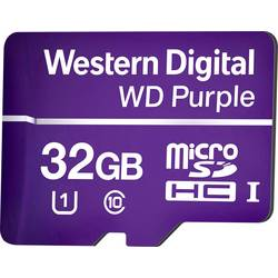 Western Digital WD Purple microSDHC kartica 32 GB Class 10, UHS-I optimizirana za 24-urno delovanje