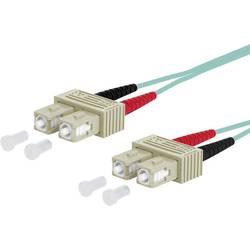 Metz Connect Steklena vlakna LWL Priključni kabel [2x Moški konektor SC - 2x Moški konektor SC] 50/125 µ Multimode OM3 1 m