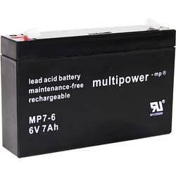 multipower PB-6-7-4,8 MP7-6 svinčeni akumulator 6 V 7 Ah svinčevo-koprenast (Š x V x G) 151 x 100 x 34 mm ploščati vtič 4,8 mm b